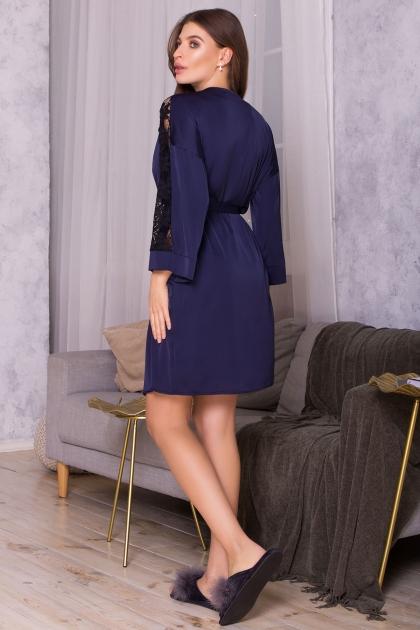 . Халат Хадия д/р. Цвет: синий в интернет-магазине