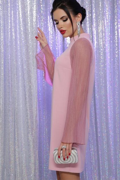 розовое платье с широкими рукавами. Платье Вилма д/р. Цвет: св.лиловый цена