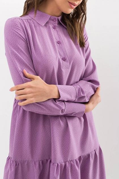 . Платье Наваль д/р. Цвет: сирень-точка черная в интернет-магазине