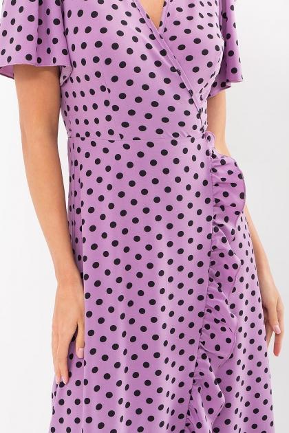 платье хаки в горошек. Платье Румия к/р. Цвет: сиреневый-черный горох в Украине