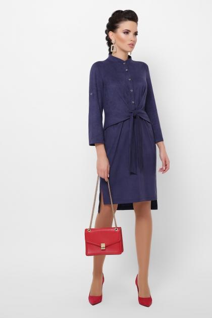бордовое платье из замши. Платье Мерида д/р. Цвет: синий цена