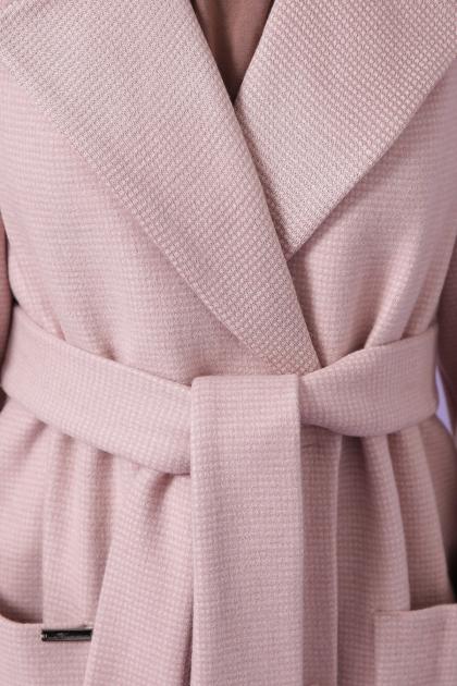 демисезонное песочное пальто. Пальто П-347-М-90. Цвет: 3-пудра в интернет-магазине