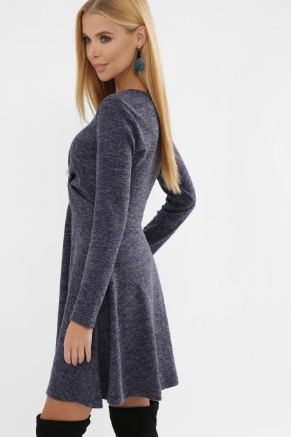 персиковое платье на осень-зиму. Платье Дафна д/р. Цвет: синий в интернет-магазине