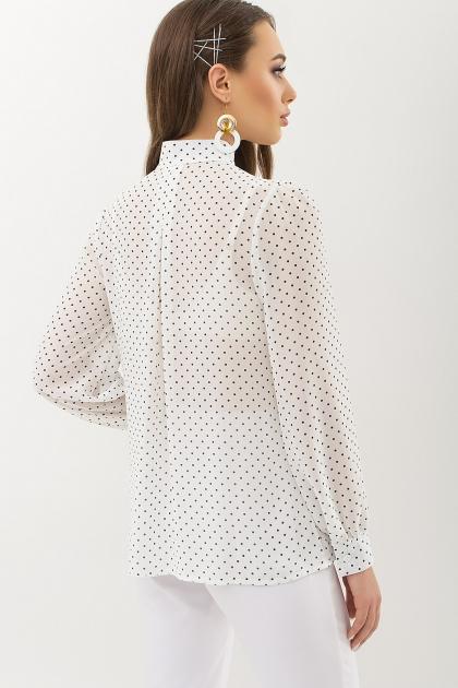 серая блузка в горошек. Блуза Аза д/р. Цвет: белый-черный м. горох в интернет-магазине