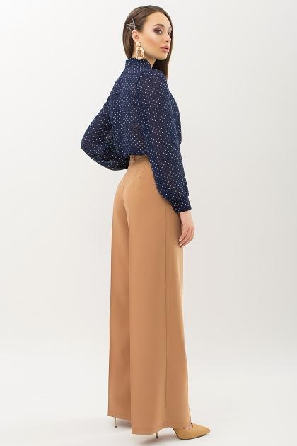 серая блузка в горошек. Блуза Аза д/р. Цвет: т.синий-белый м. горох в интернет-магазине