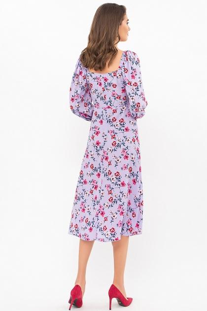 лавандовое платье с цветочным принтом. Платье Валия д/р. Цвет: лаванда-цветочки цена