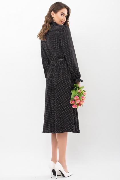 . Платье Дельфия д/р. Цвет: черный-белый м. горох цена