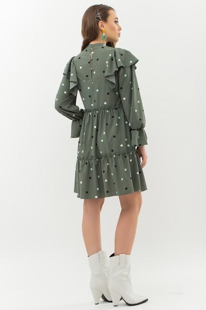 синее платье в горошек. Платье Лесса д/р. Цвет: хаки-горох цветной цена