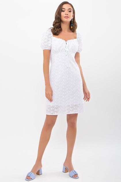 белое мини платье. Платье Бажена к/р. Цвет: белый цена