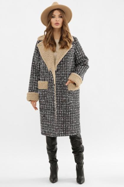 . Пальто ПД-14-100. Цвет: 3402-букле черный цена