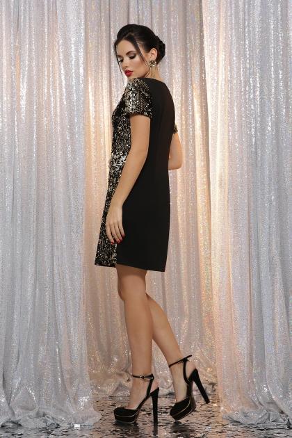 черное платье с пайетками. Платье Ираида к/р. Цвет: черный-золото в интернет-магазине