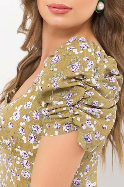 . Платье Никси к/р. Цвет: оливковый-сиреньРозы в Украине