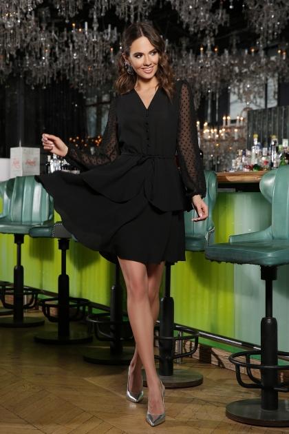 черное платье с длинными рукавами. Платье Лора д/р. Цвет: черный цена