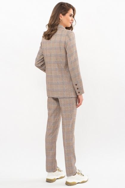 двубортный пиджак в клетку. Пиджак Элейн К д/р. Цвет: клетка коричнево-синяя в Украине