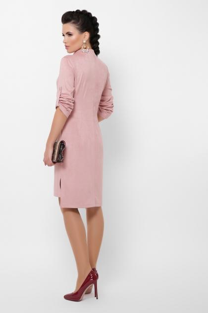 бордовое платье из замши. Платье Мерида д/р. Цвет: пудра в интернет-магазине