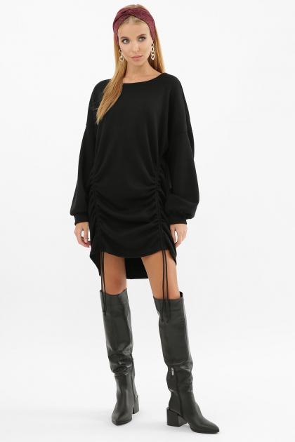 терракотовое платье с длинным рукавом. Платье Диля д/р. Цвет: черный в интернет-магазине