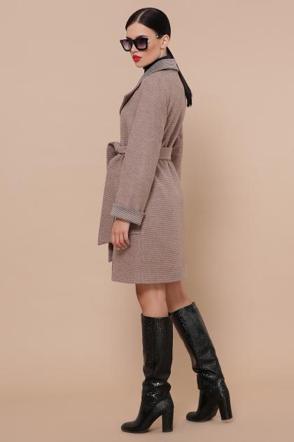 демисезонное песочное пальто. Пальто П-347-М-90. Цвет: 1-коричневый купить