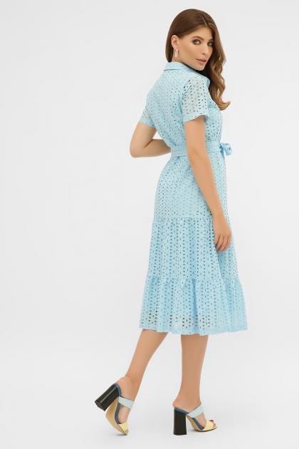 персиковое платье из хлопка. Платье Уника 1 к/р. Цвет: голубой в интернет-магазине
