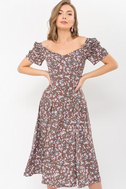 . Платье Никси к/р. Цвет: капучино-розов.Розы купить