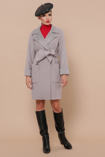 демисезонное песочное пальто. Пальто П-347-М-90. Цвет: 8-св.бежевый купить