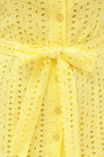 персиковое платье из хлопка. Платье Уника 1 к/р. Цвет: желтый в Украине