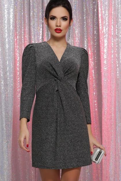короткое платье с люрексом. Платье Нила 3/4. Цвет: черный-серебро купить