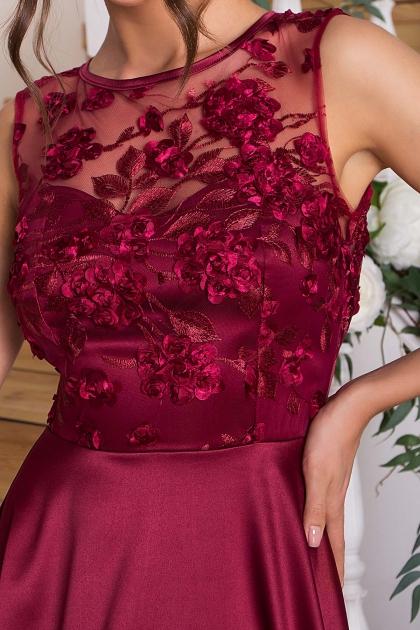 вечернее бордовое платье. Платье Пайпер б/р. Цвет: бордовый в Украине