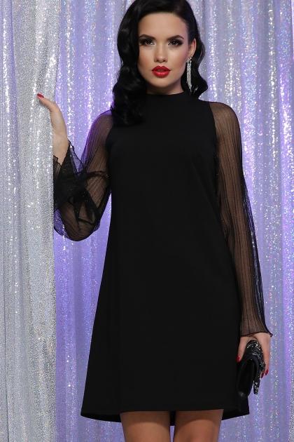 розовое платье с широкими рукавами. Платье Вилма д/р. Цвет: черный купить