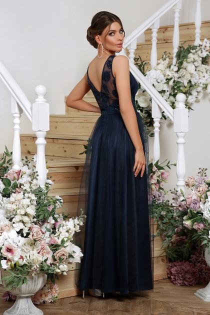 длинное синее платье. Платье Вайнона б/р. Цвет: синий в интернет-магазине