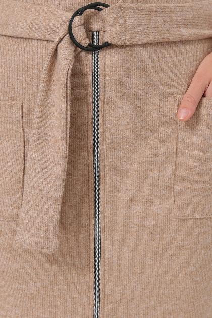 теплое платье-футляр. Платье Виталина 1 д/р. Цвет: бежевый в интернет-магазине