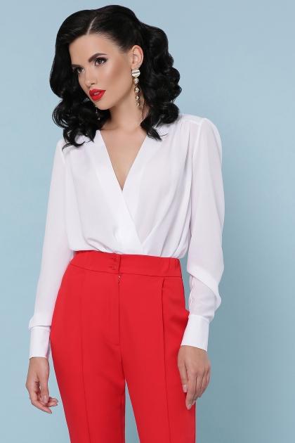 белая блузка-боди. Блуза-боди Карен д/р. Цвет: белый в Украине