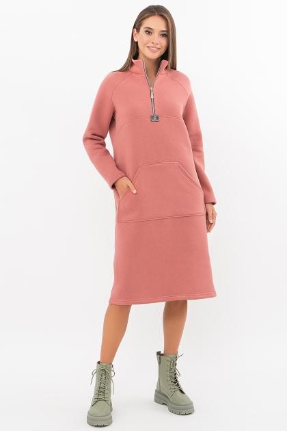розовое спортивное платье. Платье Айсин д/р. Цвет: розовый персик в интернет-магазине