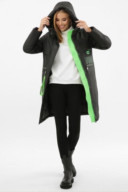 . Куртка 297. Колір: 01-черный-зеленый купить