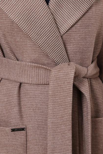 демисезонное песочное пальто. Пальто П-347-М-90. Цвет: 1-коричневый в интернет-магазине