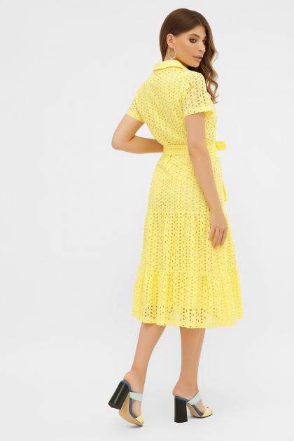 персиковое платье из хлопка. Платье Уника 1 к/р. Цвет: желтый в интернет-магазине