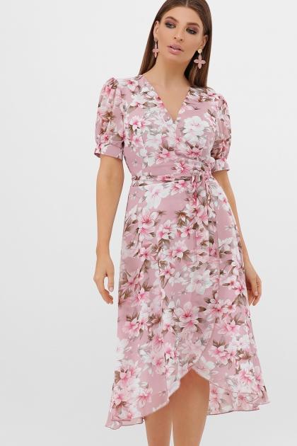 . Платье Алеста к/р. Цвет: розовый-цветы розов. купить
