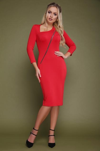 красное платье с молнией спереди. Платье Лилита д/р. Цвет: красный купить
