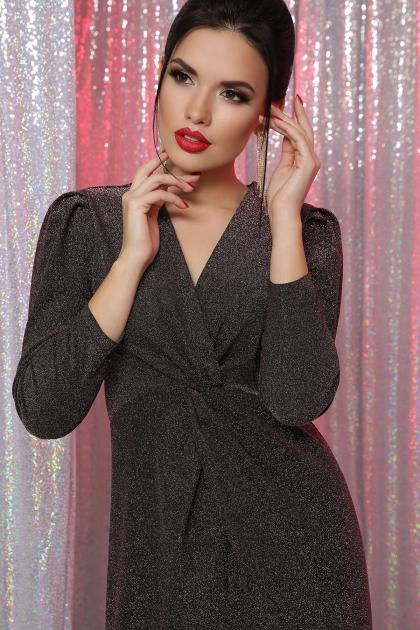 короткое платье с люрексом. Платье Нила 3/4. Цвет: черный-бронза цена