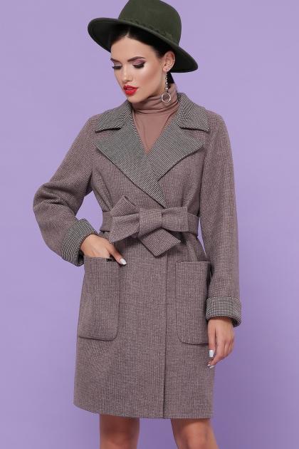 демисезонное песочное пальто. Пальто П-347-М-90. Цвет: 7-т.бежевый купить