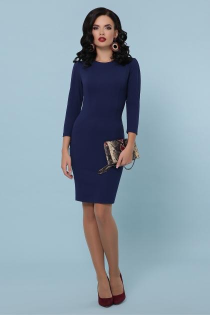 Платье выше колен темно-синего цвета. Платье Модеста д/р. Цвет: темно синий купить