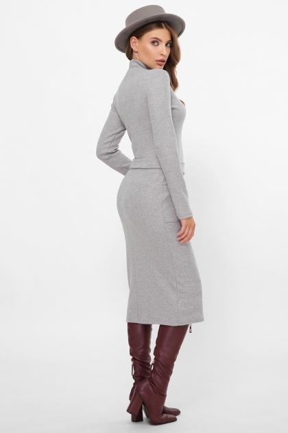 теплое платье-футляр. Платье Виталина 1 д/р. Цвет: св. серый в интернет-магазине