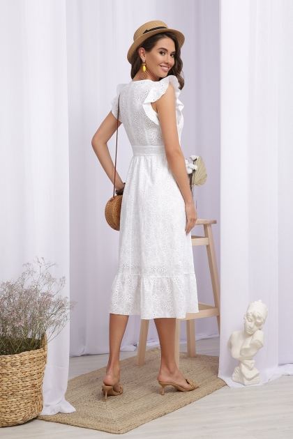 летнее белое платье. Платье Дария б/р. Цвет: белый 1 в интернет-магазине