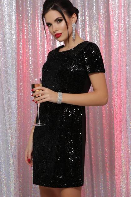 черное платье с пайетками. Платье Ираида к/р. Цвет: черный-черный цена
