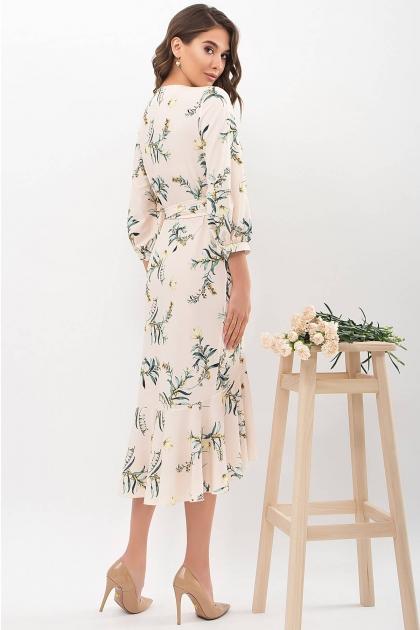 платье на запах из софта. Платье Сафура 3/4. Цвет: персик-ветка цена