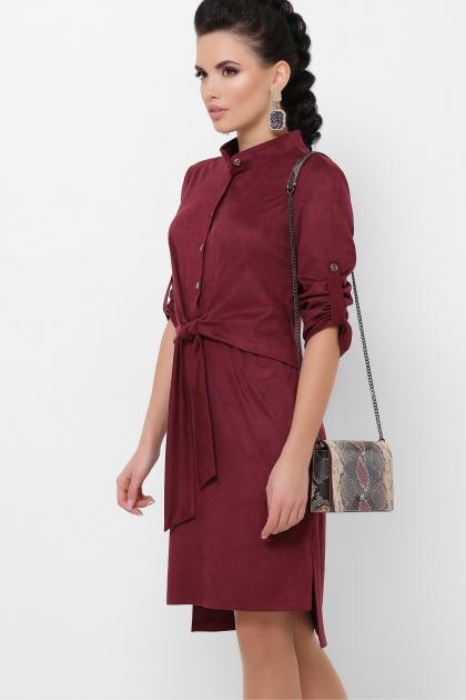 бордовое платье из замши. Платье Мерида д/р. Цвет: бордо цена