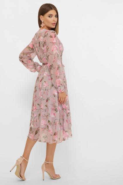 нежное платье на запах. Платье Алеста д/р. Цвет: капучино-розы розов. в интернет-магазине