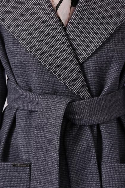 демисезонное песочное пальто. Пальто П-347-М-90. Цвет: 12-т.серый в интернет-магазине