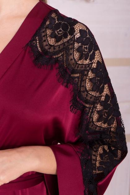 . Халат Хадия д/р. Цвет: бордо в интернет-магазине