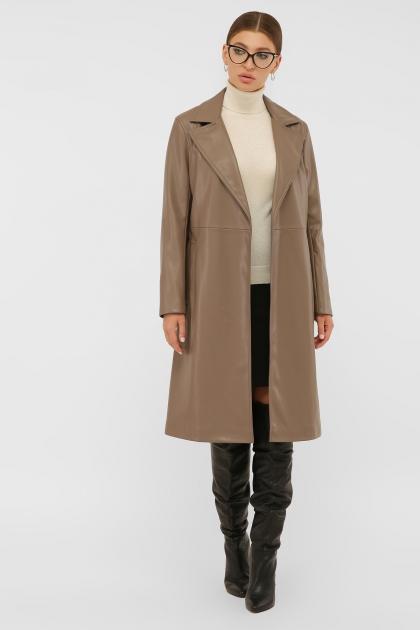 кожаный плащ коричневого цвета. Плащ 108-100 (К). Колір: 604-серо-коричневый цена