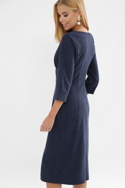 серое платье из замши. Платье Констанция 3/4. Цвет: синий в интернет-магазине